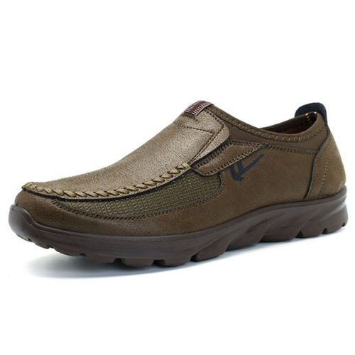 Homme d/'hiver en cuir Casual Chaussures Basses Mocassins en cuir synthétique Running CHIC /& /&