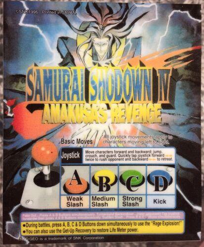 Samurai Shodown Showdown Neo Geo Mini Arcade Marquee IV 4
