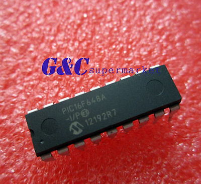 5PCS IC PIC16F648A-I/P PIC16F648 MICROCHIP DIP-18 NEW GOOD QUALITY