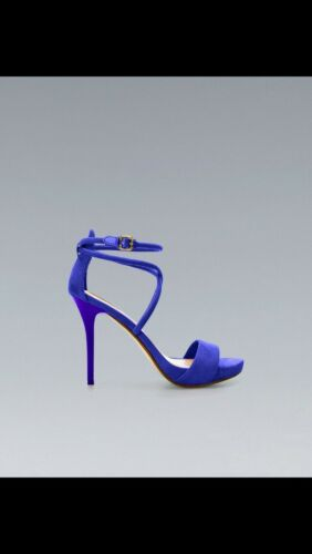 à Zara bleues Uk Sandales talons Electric 4 qCwCZ4A