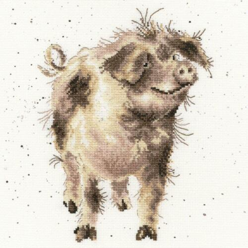 Piggy 14 count Bothy Threads counted cross stitch kit Truffles and Trotters