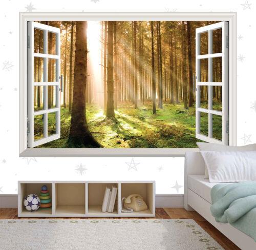 Forest At Dawn Woodland Window Wall Sticker Art Vinyl Decal Decor Mural