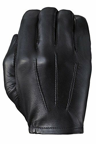 Cabretta Water Repellent Thin Tough Gloves Men/'s Blk Leather Non-Lined Raised