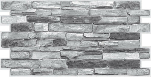 3D Wall Panels Stone Brick Slate Effect Decorative PVC Plastic Cladding outdoor
