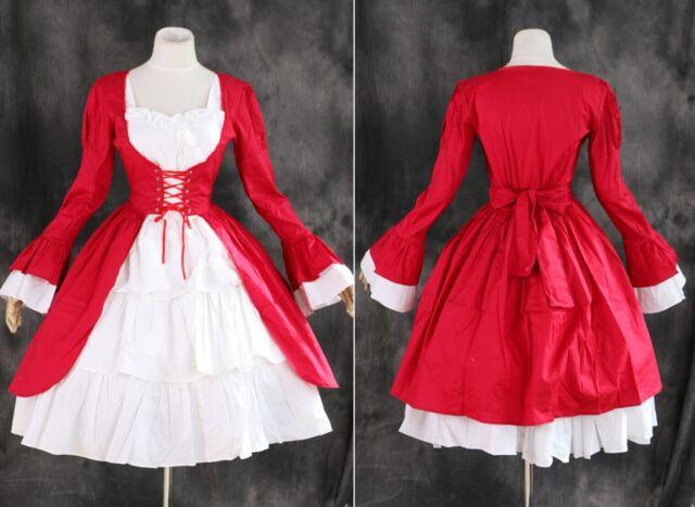 M-508 S/M/L/XL/XXL Ror red Cosplay Gothic Lolita Kleid Kostüm dress Victorian