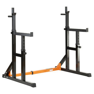 Mirafit-Adjustable-Squat-Rack-amp-Dip-Stand-Barbell-Weight-Gym-Bench-Power-Lifting