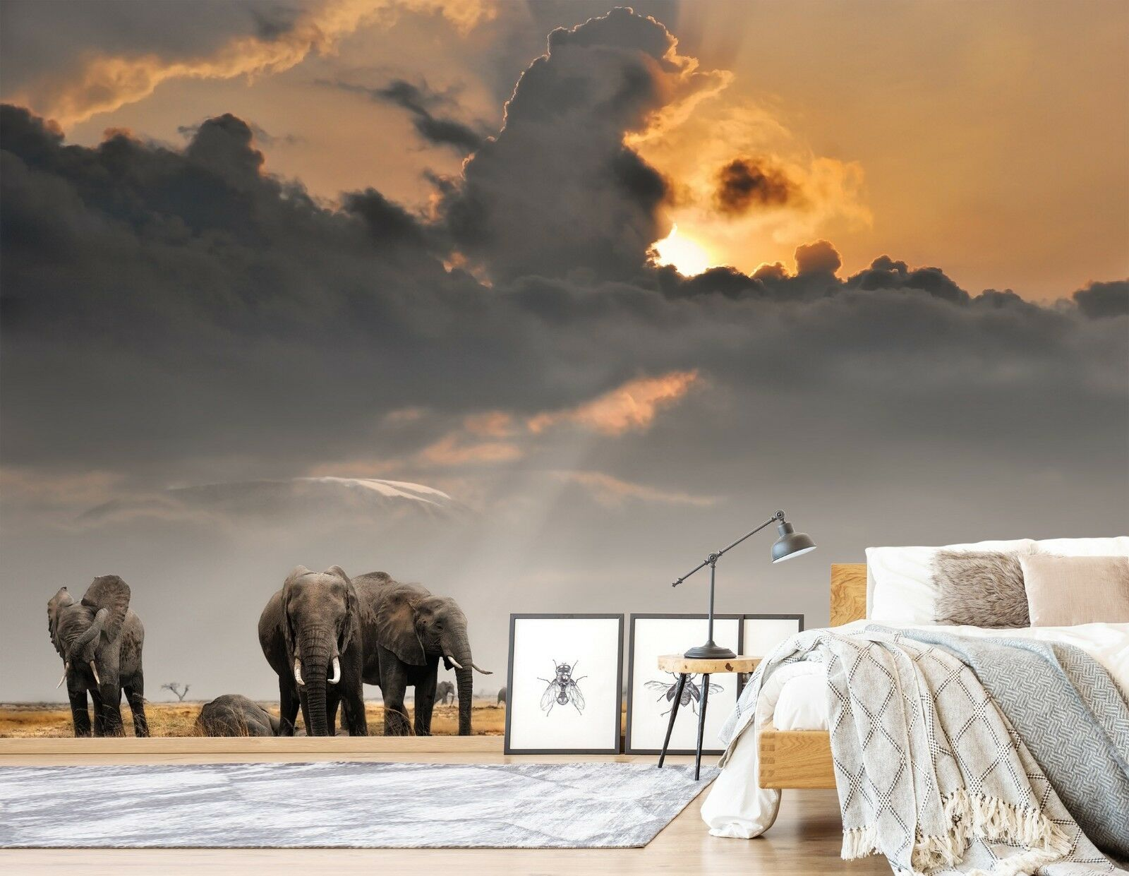 3D Elephant 7111 Wall Paper Print Wall Decal Deco Indoor Wall Murals US Summer