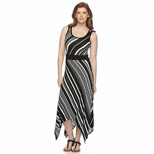 86c908ffcd5 item 1 NEW Apt 9 Womens Slimming Maxi Dress Sharkbite Stripe Drapey Plus 2X  3X  60 NWT -NEW Apt 9 Womens Slimming Maxi Dress Sharkbite Stripe Drapey  Plus 2X ...