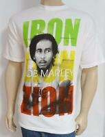 Zion Rootswear Bob Marley Iron Lion Zion White T-shirt Mens Extra Large