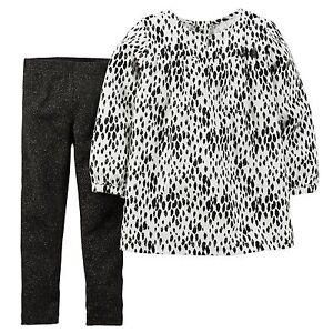 7713522548cb Carter's Baby Girls' 2-Piece Spot-Print Shirt & Leggings Set Size 6 ...