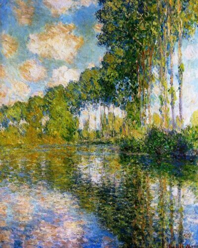 Poplars on Epte By Claude Monet Paint By Numbers Kit DIY Painting Artwork