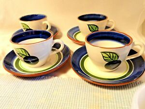 4-Stangl-Pottery-Dinnerware-GRAPE-Cup-amp-Saucer-Sets