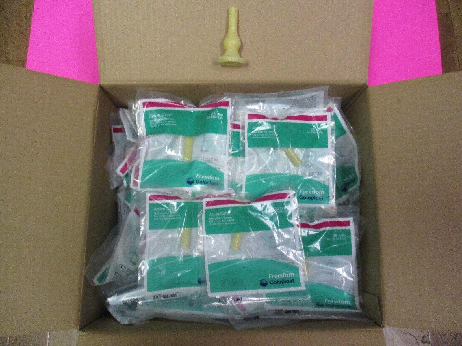 100 Self-adhering External Catheter 28mm Latex condom Cath Medium 28 mm