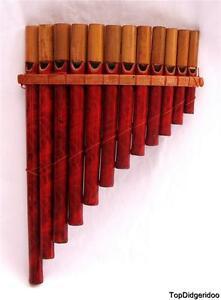 Native-Pan-Flute-12-Bambou-Tuyaux-Veritable-Zampona-Authentique-Art-Fait-Main-de