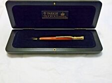 PARKER DUOFOLD SPECIAL EDITION ORANGE PENCIL 0.9mm NEW IN ORIGINAL WOODEN BOX