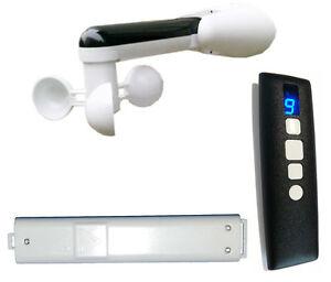 Sensore Vento Per Tende Da Sole.Dettagli Su Kit Radiocomando Centralina Sensore Vento Anemometro Motore Tenda Tende Da Sole