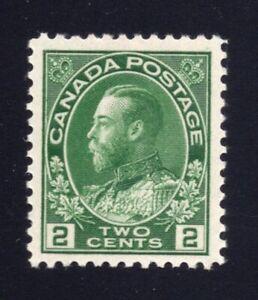 Canada-Sc-107e-1923-2c-Green-Admiral-Dry-Printing-VF-NH