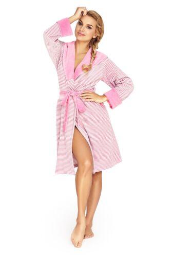 Women/'s Lusso Morbido Cotone BATH ROBE Housecoat Vestaglia BATHROBE con Cappuccio