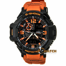 Casio GA1000-4A Men's G-Shock Black Ana-Digi Dial Orange Resin Strap Alarm Watch