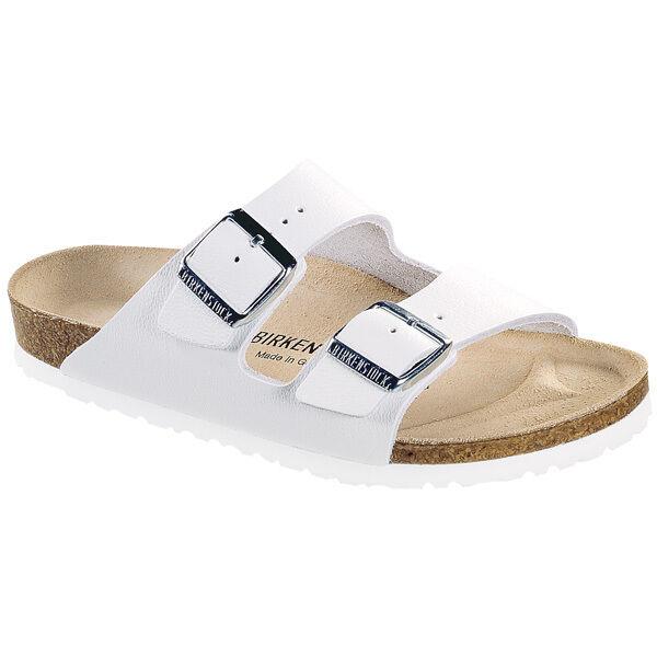 Birkenstock Arizona Glattleder Schuhe WEISS 051133 Sandale Clogs Weite Schmal