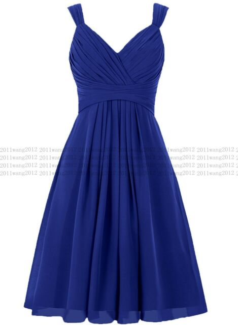 Formal Chiffon Lace Short Prom Party Cocktail Gown Evening Bridesmaid Dress 6-28