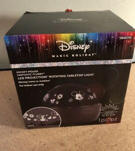 Disney-Mickey-Mouse-Gemmy-LED-Christmas-Indoor-Projector-Night-Light-Lighted