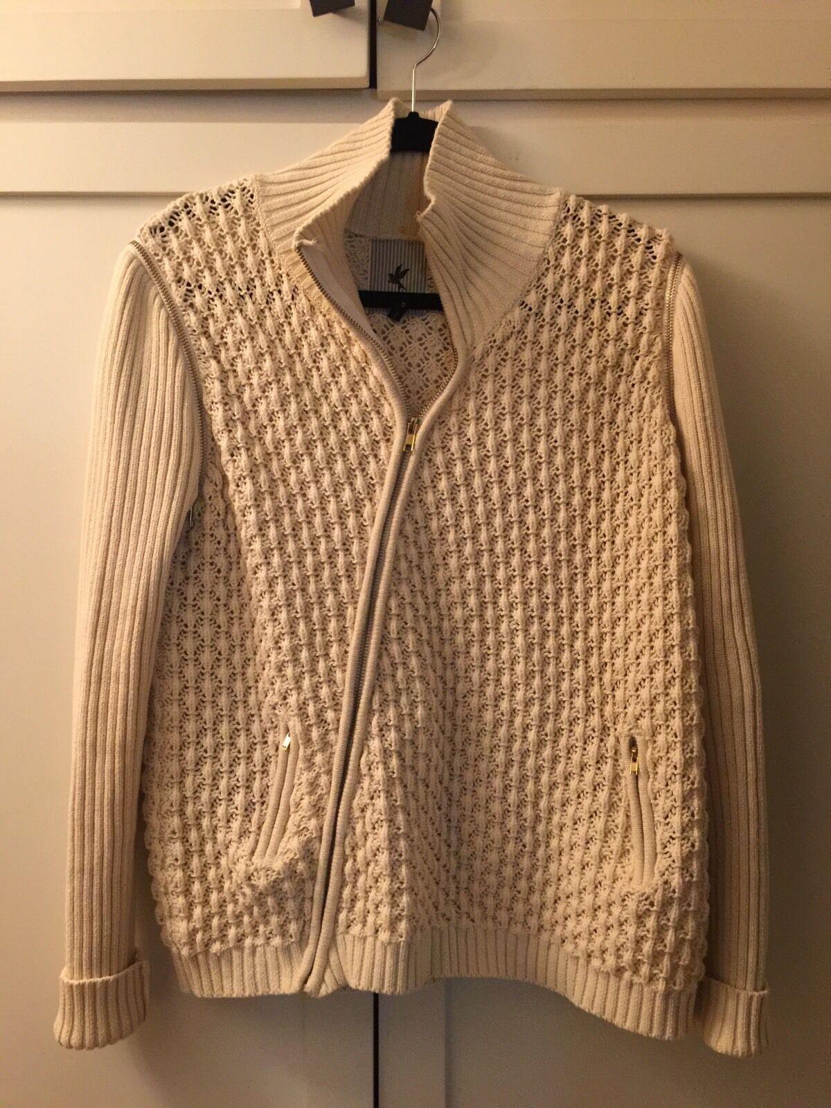 One Teaspoon Oversized Cream colord Sweater Vest combo Size Small Cotton Medium
