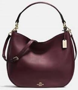 Image Is Loading Nwt Coach 36026 Nomad Hobo Oxblood Wine Glovetanned