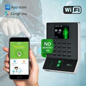 ZKteco Fingerprint Time Recorder No Fee Time Clock Download Report