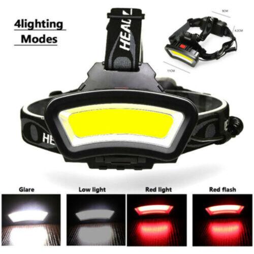 80000LM COB LED Headlamp Headlight Torch USB-Rechargeable Flashlight Work Light