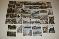 CHANNEL ISLAND POSCARDS - JERSEY - LOT DE 37 CARTES POSTALES ANCIENNES VERS 1900