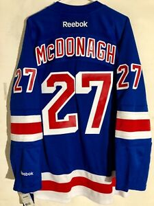 sports shoes b3ddb bfc27 Details about Reebok Premier NHL Jersey New York Rangers Ryan McDonagh Blue  sz 2X