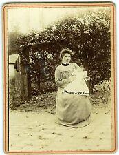 PHOTO une mère et son fils marcel à 18 jours maternité circa 1900