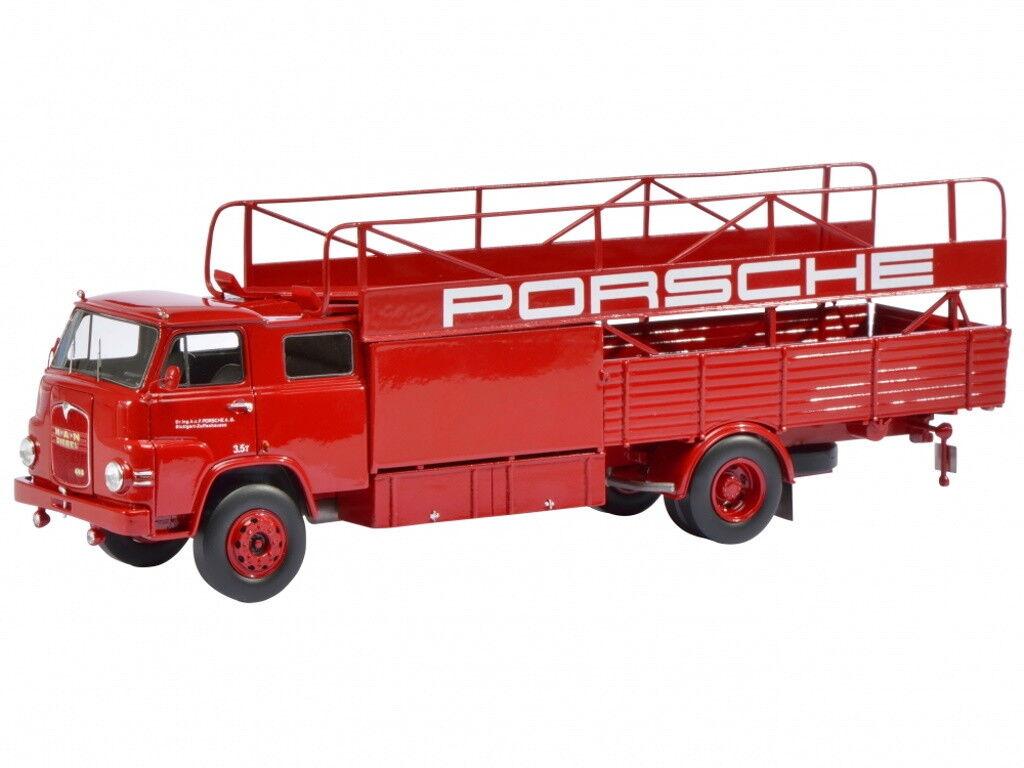 SCHUCO uno raza transportador rosso Porsche 1 18 (mejor packaging)