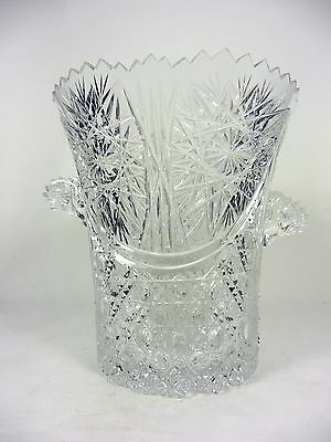 Vintage Cut Crystal Ice Bucket Buttons and Stars