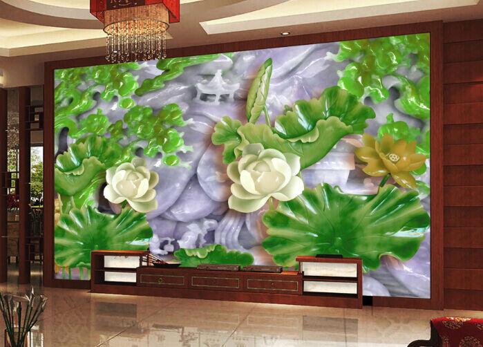 3D greene Jade Kristall 7612 Fototapeten Wandbild Fototapete BildTapete Familie