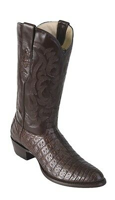 8fdd05227b3 New Men's Los Altos 658207 Brown Caiman Crocodile Belly round Toe Cowboy  Boot | eBay