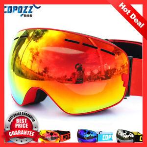 8b6f1971cdf COPOZZ brand ski goggles double layers UV400 anti-fog big ski mask ...