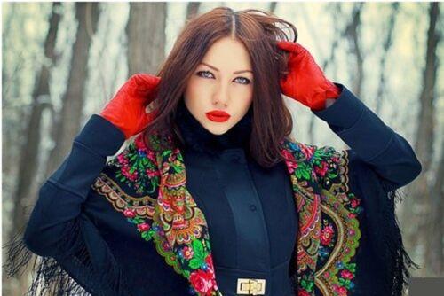 Stylish Large Slavonic Russian scarf shawl folk style new Winter collection
