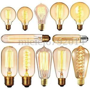ampoule filament carbone 4 40 60w e27 b22 e14 incandescente vintage edison r tro ebay. Black Bedroom Furniture Sets. Home Design Ideas
