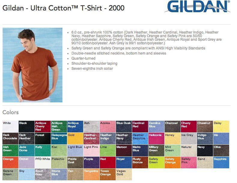 20 Gildan Ultra Cotton T-Shirt Wholesale Bulk Lot ok to mix XXL-5XL & colors