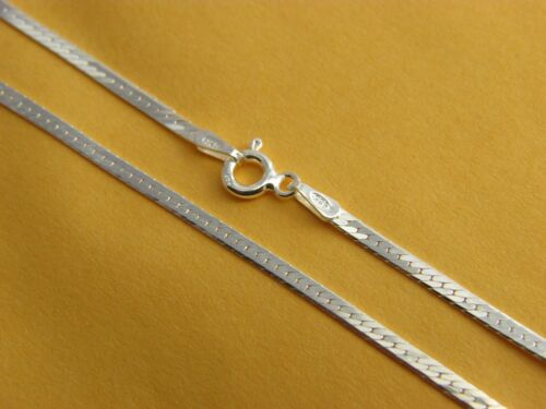 REAL 925 STERLING SILVER Herringbone Magic Chain Necklace REAL SILVER Mens Chain