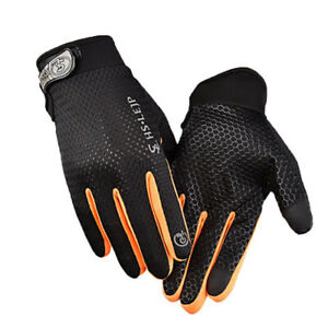 Cycling Gloves Full Finger Anti Slip Breathable Windproof Downhill Road Outdoor