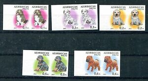 AZERBAIJAN 2014 DOGS IMPERF SET IN PAIR ** MNH RARE!!!