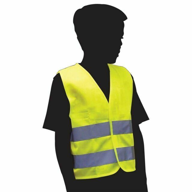 Child Yellow Hi Visibility Reflective Vest Hi Viz  3 Sizes From 3 to 11 Years