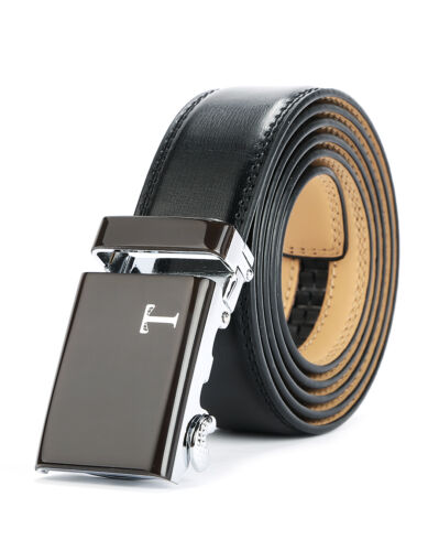 Tonywell Belts for Mens Leather Ratchet Belt with Automatic 40mm Buckle  Well-US