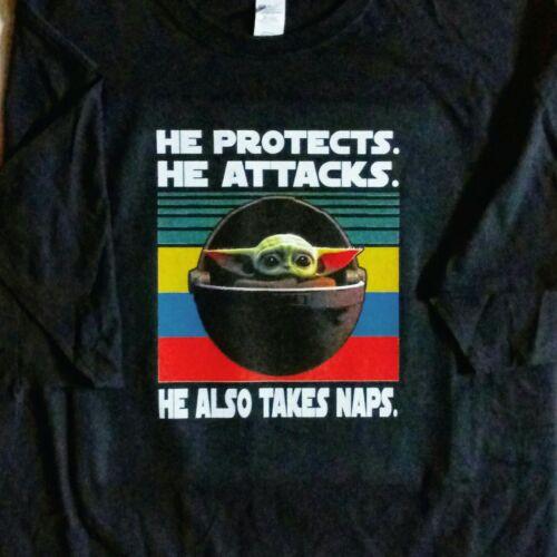 Baby Yoda CUSTOM T-shirt Mandalorian Star Wars The Child Takes Naps *Fast Ship!*