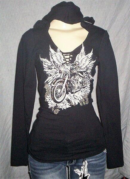 1856 Ladies Long Sleeve Shirt with Hoodie
