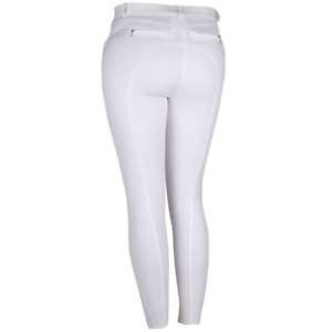 SALE Rebel by Montar Shelby Classic Silicone Knee Patch Breeches - White