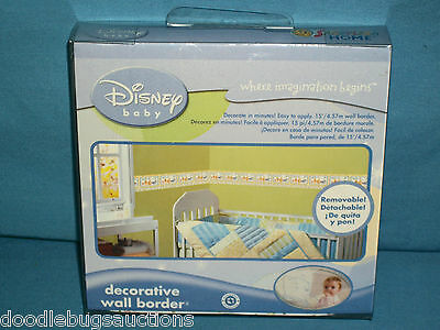 Disney Baby POOH Tigger Eeyore Piglet Decorative 15ft WALL BORDER Room Decor NEW
